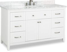 Cabinet Boxes - Vanity Cabinets - Page 14 - Cabinet Now Wood Vanity, Diy Vanity, Vanity Cabinet, Jeffrey Alexander, Cabinet Boxes, White Vanity, Dovetail Drawers, Shaker Style, Beveled Glass