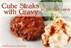 All Day Cube Steaks with Gravy | AllFreeSlowCookerRecipes.com