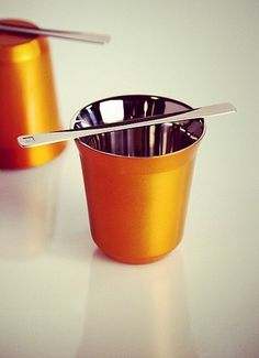 Pixie Lungo Linizio | This simple stainless steel design of the Pixie Cup Collection is both timeless and traditional.
