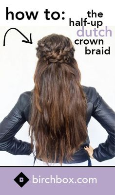 Learn how to recreate this simple, yet sophisticated half-updo braid. With just a couple hair ties, bobby pins, and a few spritzes of texturizing spray, you're just minutes away from an easy and elegant style. Watch now! <-- This looks cool. Looks Style, Looks Cool, Pretty Hairstyles, Braided Hairstyles, Updo Hairstyle, Casual Hairstyles For Long Hair, Wedding Hairstyles, Homecoming Hairstyles, Wedding Updo
