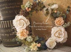 Bunny flower★  http://ameblo.jp/blog-charis/   http://www.rakuten.co.jp/bunny-flower/ プリザーブドフラワーリースpreserved Wreath