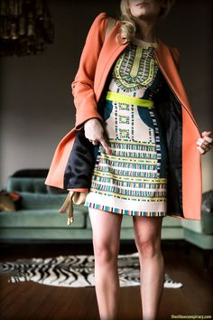 Outfit Of The Yesterday: Zara Coral Coat + The BCBGMAXAZRIA Odette Dress | t h e (c h l o e) c o n s p i r a c y : fashion + life + style