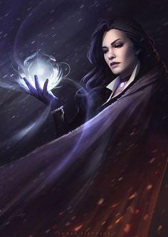 Yennefer of Vengerberg. ⚡ ⚡ ⚡ Art by: Tomek Pietryzk The Witcher, Witcher Art, Yennefer Witcher, Fantasy Women, Dark Fantasy, Fantasy Witch, Fantasy Artwork, Fantasy Inspiration, Character Inspiration