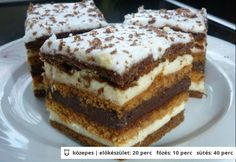 Chod: Zákusky a koláče - Page 11 of 254 - Mňamky-Recepty. Hungarian Desserts, Hungarian Recipes, Cookie Recipes, Dessert Recipes, Torte Cake, Sweet Cookies, Sweet And Salty, Winter Food, Cakes And More