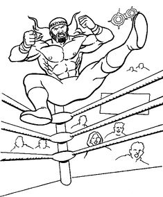 John Cena Coloring Page Wwe Party Wwe Coloring Pages Wwe Party