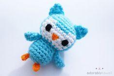 Tiny Owl Amigurumi by adorablykawaii.deviantart.com