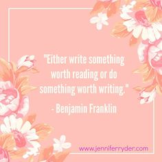 Happy Words of Wisdom Wednesday! I love this week's quote from is from Benjamin Franklin... This is so true when it comes to writer's block.  #WordsOfWisdomWednesday #AuthorLife