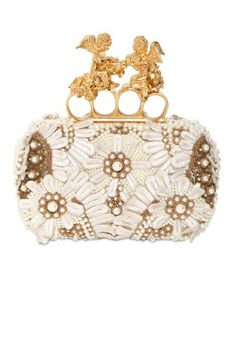 Jewel box: we're obsessed with the tiny clutch bag! From Alexander McQueen