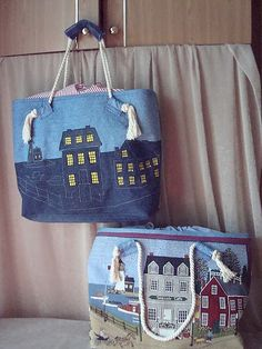 Top 20 creative ideas of old jeans picturescrafts com ru / Foto # 51 - Denim rilavorazione - Cherepaha-i 30 variants of bags made from old jeans This site has so many ideas for creative ways to make things from jeans, it's… Patchwork Bags, Quilted Bag, Bag Quilt, Denim Ideas, Denim Crafts, Recycle Jeans, Recycled Denim, Fabric Bags, Denim Fabric