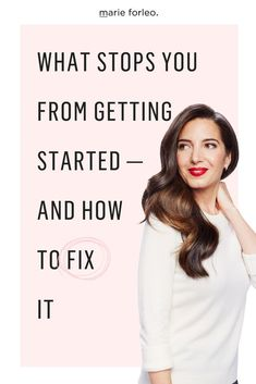 Marie Forleo will help you to learn a simple habit for getting started that can increase implementation speed and your learning curve. #Procrastination #FearOfGettingStarted #LearningCurve #CreatingNewHabits #Productivity #ProductivityHacks #LearningNewSkills #MarieForleo #MarieTV