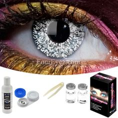 Glimmer Silver Contact Lens Set.. anyone wanna buy these for me? No? Ok :c