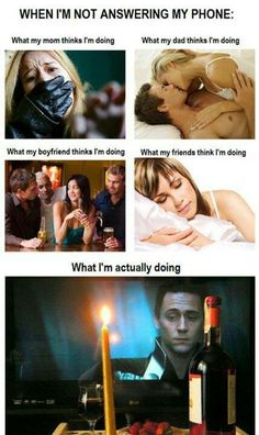 What I'm actually doing. ~ Loki...actually, my friends think I'm doing exactly what I'm doing; so does my husband.  LOL!