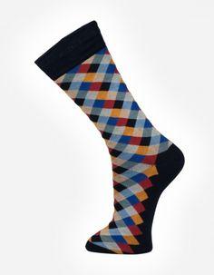Check no.9002 Effio #Dandy #Mensstyle #Mensfashion #Gentleman #Socks #DutchDesign #MadeinItaly #Check #Colourful