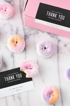 Ombre Colored Donuts