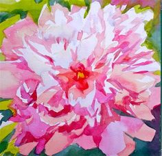"Daily Paintworks - ""A simple peony"" by Jo MacKenzie"