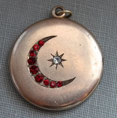 $135 #vintage #locket #moon #star #pendant #jewelry.   I have a similar one with clear stones
