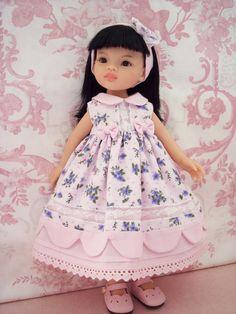 Robe et serre-tête compatible poupées paola reina, little darling...