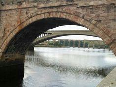 Three bridges Berwick upon Tweed
