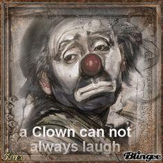 Trauriger clown
