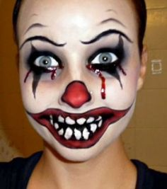 This make up is sure to scare this Halloween! Learn how to create this look here.