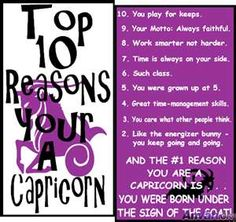 Top 10 Reasons you are a Capricorn. Pin your zodiac sign
