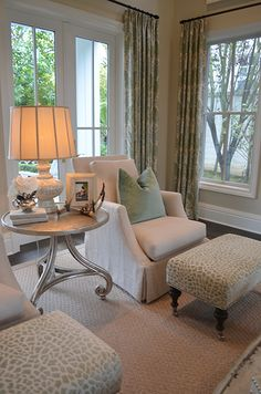 Soft-colored living room detail
