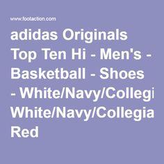 adidas Originals Top Ten Hi - Men's - Basketball - Shoes - White/Navy/Collegiate Red