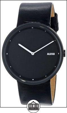 Alessi AL13003 - Reloj analógico automático para hombre, correa de cuero color negro de  ✿ Relojes para hombre - (Gama media/alta) ✿