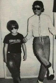 Michael Jackson and Sean Lennon