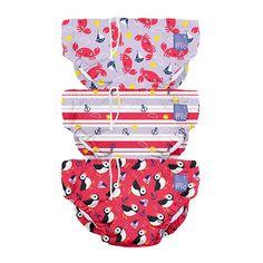 1 2 3 6 12 Packs Bambino Mio Reusable Swim Nappy Sea Horse 2yrs