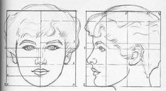Proportions of the Head, Tutorials by Andrew Loomis