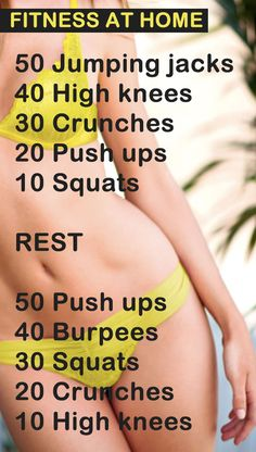 Keeping fit at home is fairly easy and you don't require any equipment with this routine. Simply complete the exercises on a daily basis and see awesome results