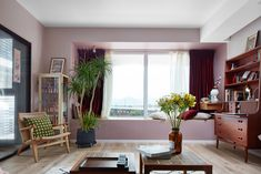 Decor, Windows, Wall, Home Decor, Curtains, Pink Walls
