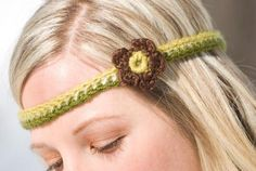 Want to make a simple crochet headband even more stylish? Just add a flower!