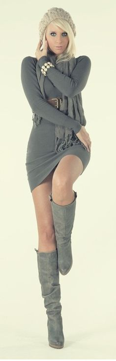 knitted sweaterdress with boots ✤ | Keep the Glamour | BeStayBeautiful