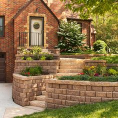 Boost your curb appeal with a pretty stone wall. More easy exterior fixes: http://www.bhg.com/home-improvement/exteriors/curb-appeal/curb-appeal-tips/?socsrc=bhgpin072512stonewallentry#page=20