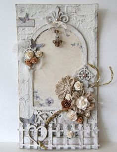 cards, tags - Imaginarium Designs: layout and wall hanging Shabby Chic Karten, Shabby Chic Cards, Altered Canvas, Altered Art, Vintage Cards, Vintage Paper, Diy And Crafts, Paper Crafts, Handmade Tags