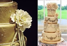 great gatsby wedding cakes | Gatsby theme wedding cakes via One Wed left and by We Want Cake UK ...