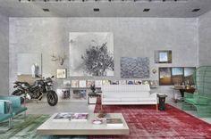 grey walls + greyish wall art
