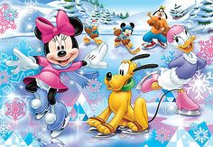 Minnie Mouse, Mickey Mouse, Daisy Duck, Donald Duck, Pluto & Goofy
