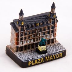 Collectible Miniature House: Spain. Mini Figurine from Madrid. Plaza Mayor