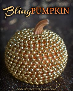 The Swell Life: Gold Bling Pumpkin DIY