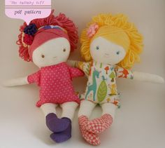 Little Girl Soft Doll Sewing Pattern PDF by thelullabyloft