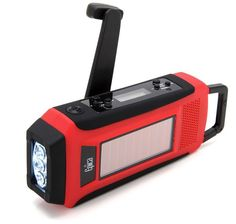 Epica Emergency Solar Hand Crank Am/Fm/Noaa Digital Radio Flashlight Cell Pho..