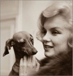 Marilyn Monroe and her dogs