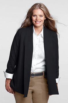 Women's Ponté Shawl Jacket from Lands' End- $49.99