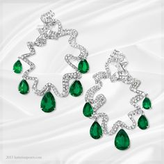 A wonderful selection of emerald earrings perefect for special occasions