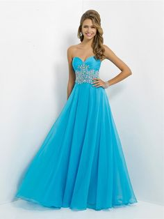 Sheath/Column+Sweetheart+Sleeveless+Chiffon+Prom+Dresses+With+Rhinestone+#BK071