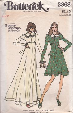 Betsey Johnson of Alley Cat Butterick 3868 Dress