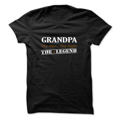 Grandpa The Legend - #homemade gift #shirtless
